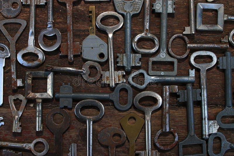 钥匙锁 免版税库存照片