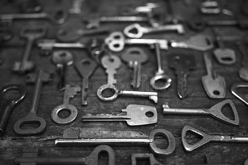 钥匙锁 库存照片