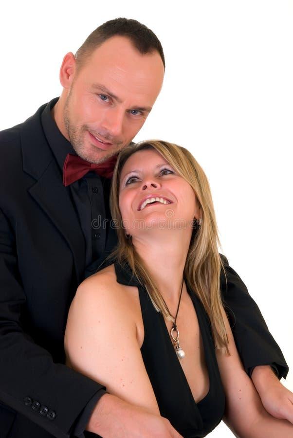 钦佩者职业舞男男妇女 免版税图库摄影