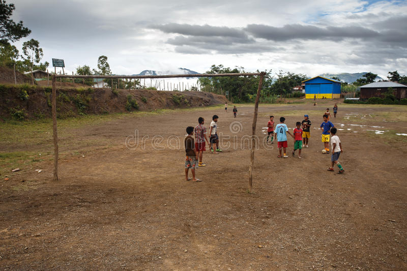 钦邦,缅甸 库存图片