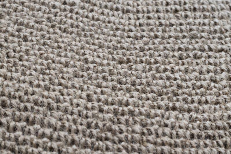 钩针编织的地毯的纹理 免版税库存图片