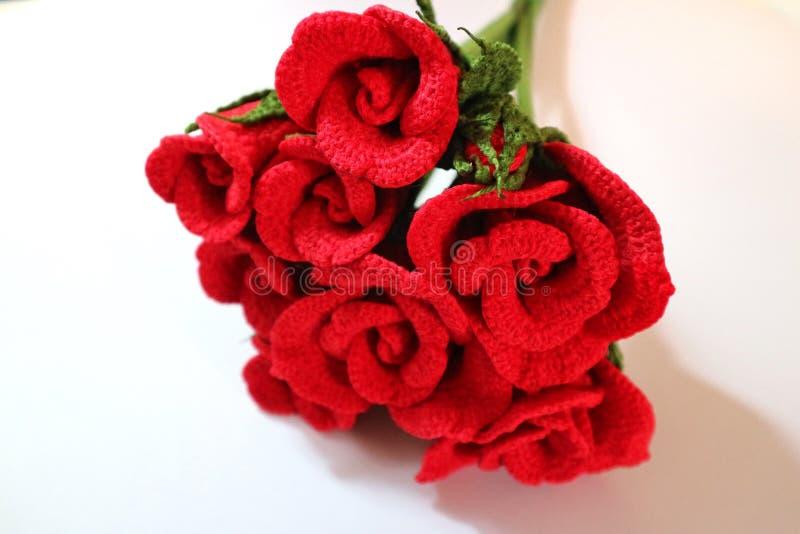 钩针编织的玫瑰 库存照片