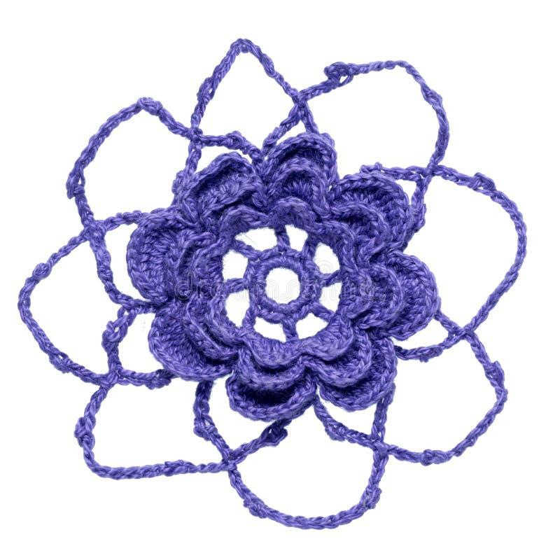 钩针编织的花 库存图片