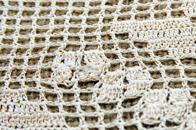 钩针编织背景 时髦抽象的背景 库存照片