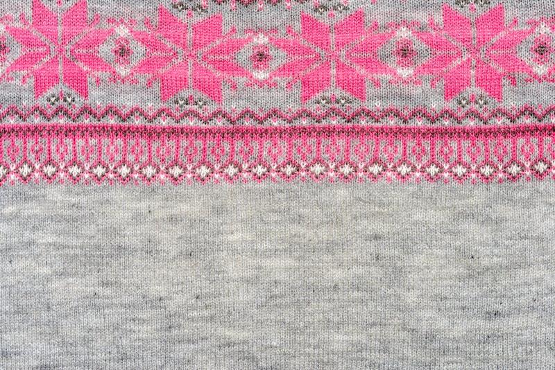 钩针编织织品样式 免版税图库摄影