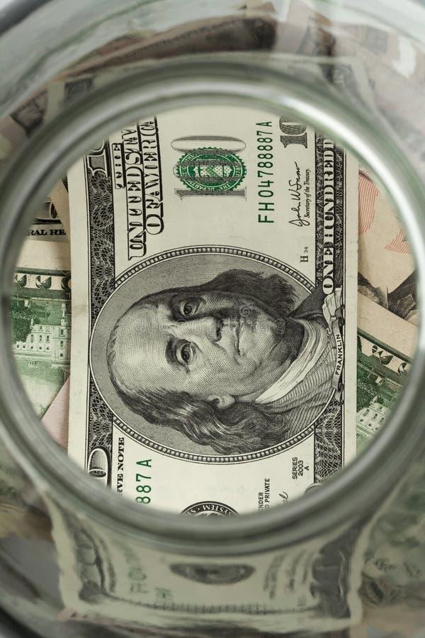 钱包和货币 图库摄影