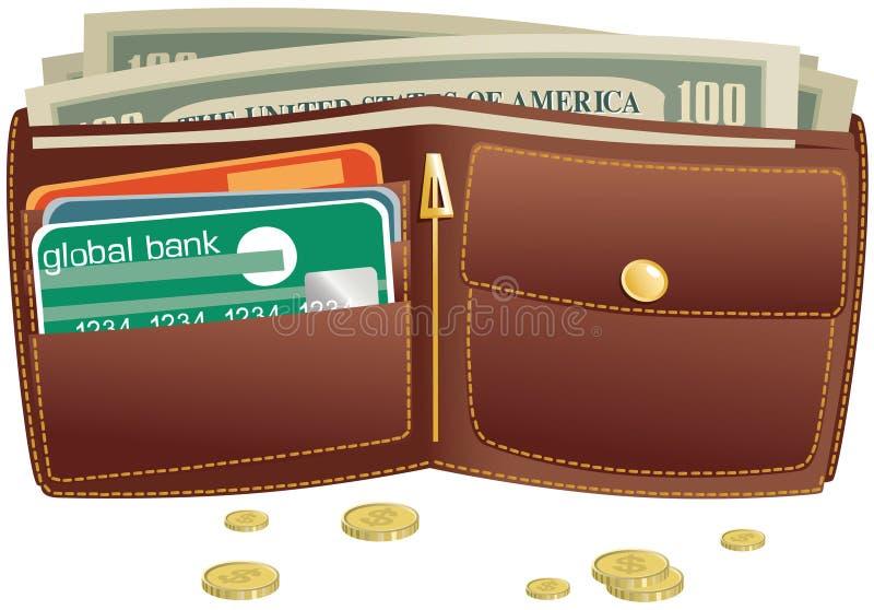 Download 钱包和货币 向量例证. 插画 包括有 货币, 开放, 美元, 附注, 预算的, 商务, 收入, 资本主义 - 72356977