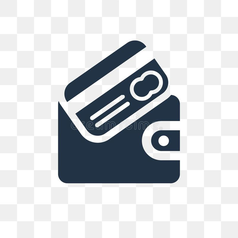 钱包在透明背景隔绝的传染媒介象,钱包t 向量例证