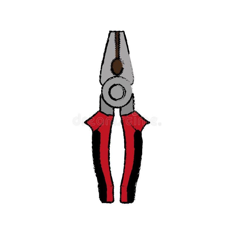 钳子建筑工具 皇族释放例证