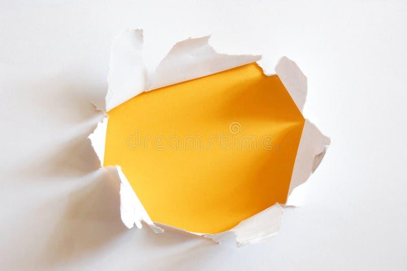 钻孔纸黄色 图库摄影