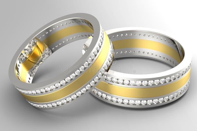 钻石婚环形 皇族释放例证
