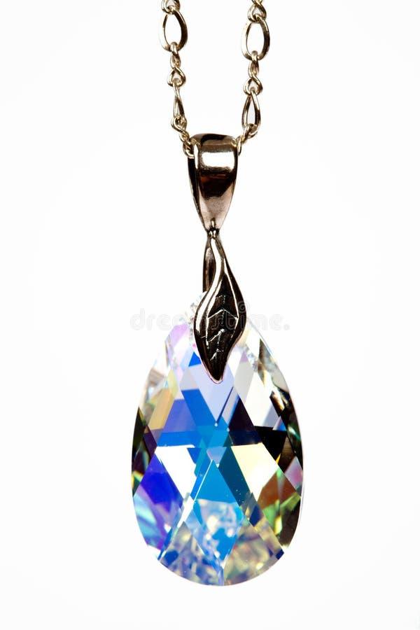 钻石项链 免版税库存图片