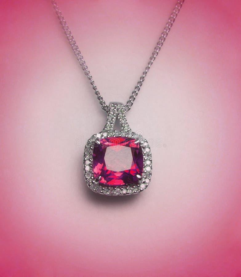 钻石项链 免版税图库摄影