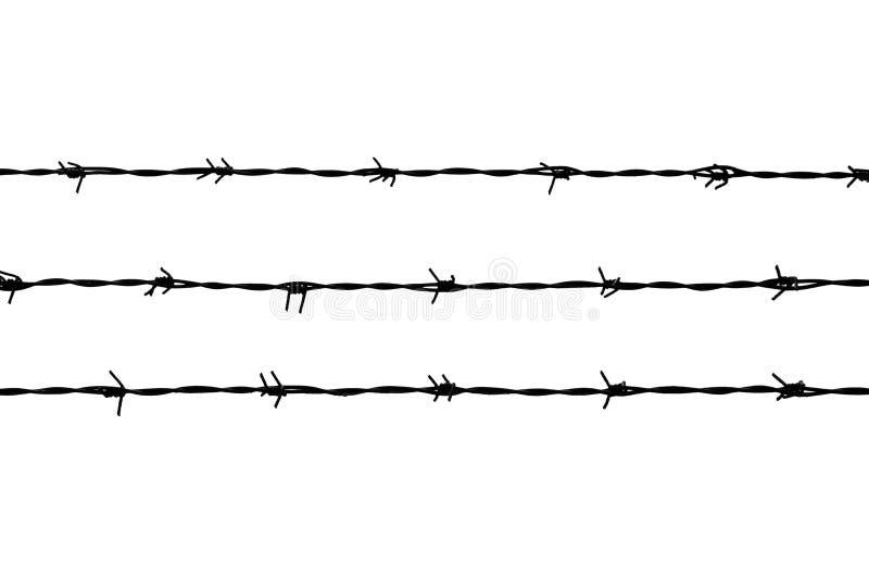 铁丝网三条黑线  库存照片