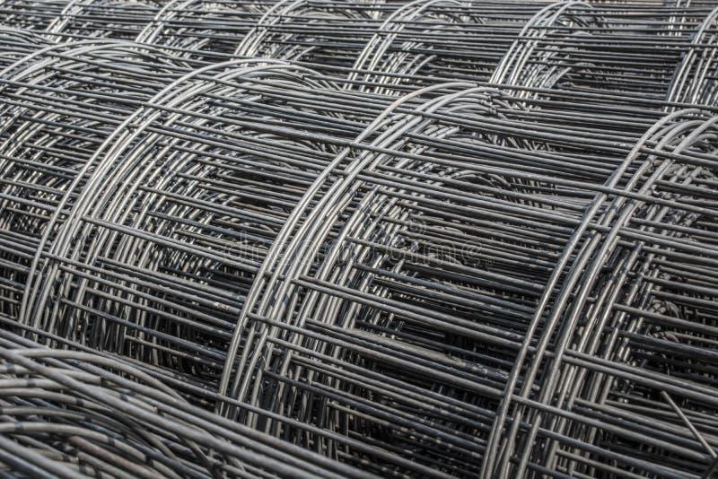 铁丝网钢卷  免版税库存图片