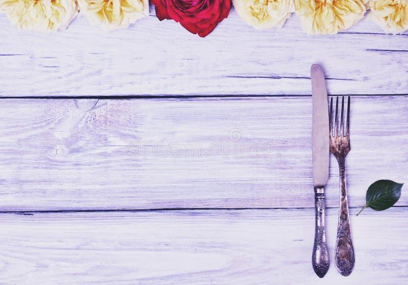 铁利器叉子和刀子 免版税库存图片