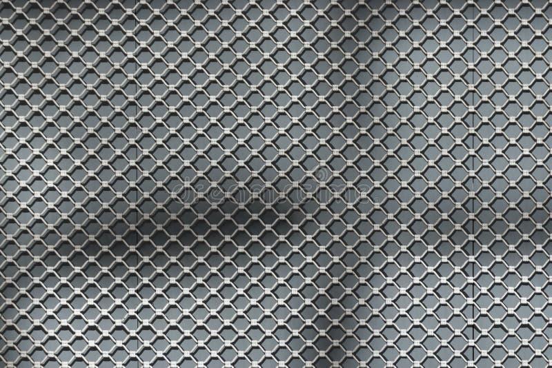 铁刺耳背景在城市 库存照片