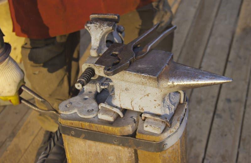 铁匠工作 免版税图库摄影