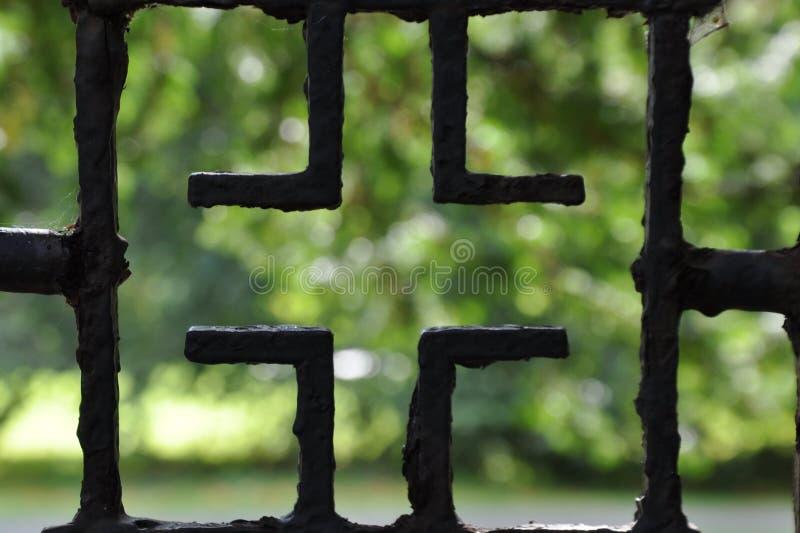 铁器类给栏杆装门生锈了腐蚀 免版税库存照片