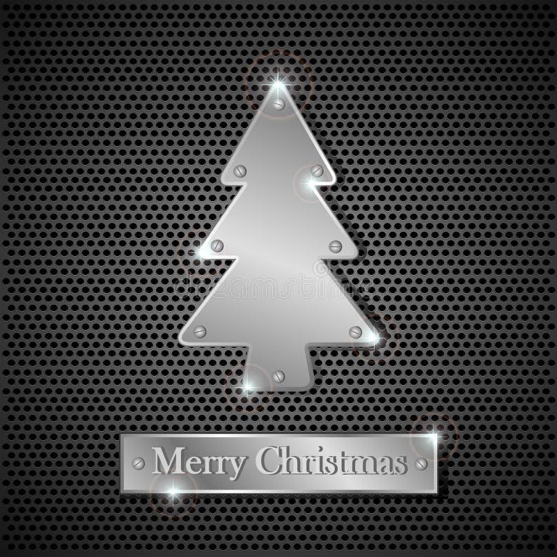 铁圣诞树 库存例证