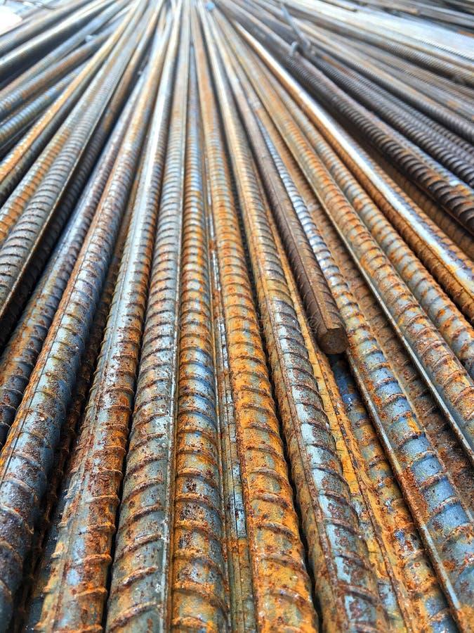 铁在建筑区域 免版税库存照片