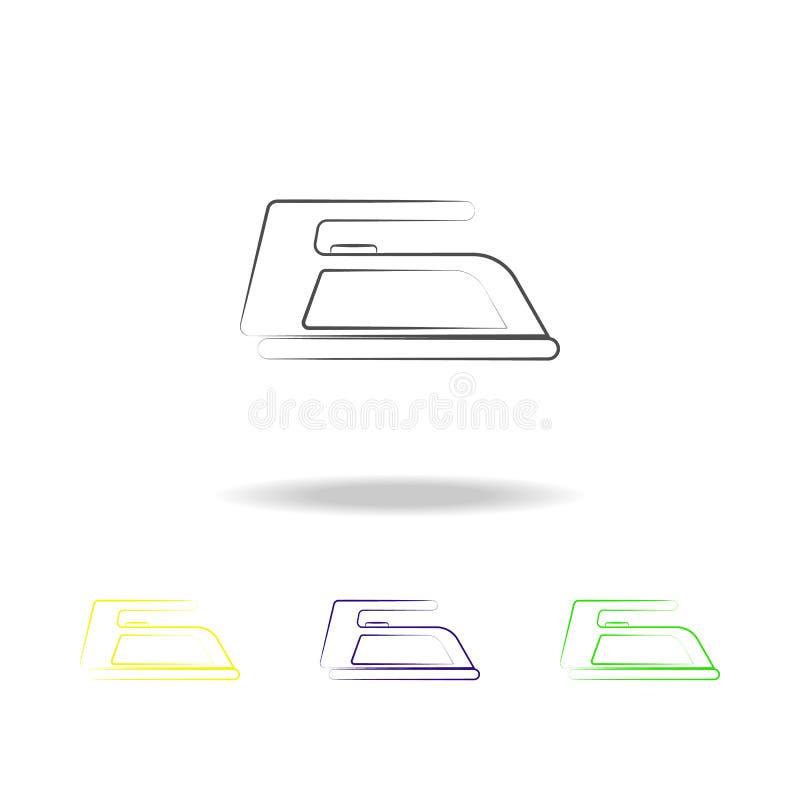 铁多彩多姿的象 电子设备多彩多姿的象的元素 标志,标志汇集象可以为网,日志使用 库存例证