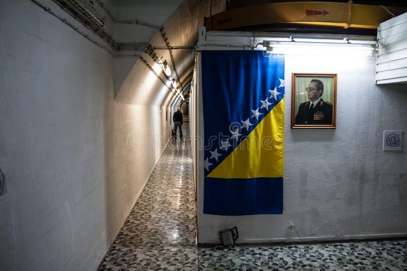铁托地堡在波斯尼亚 免版税库存图片
