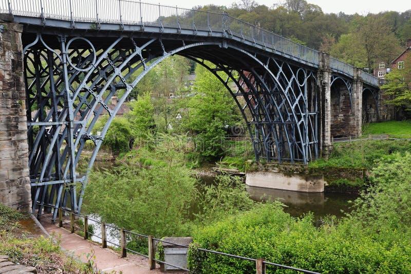 铁桥梁在萨罗普郡,英国 库存照片
