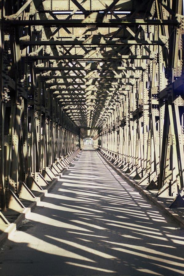 铁桥梁结构 库存照片