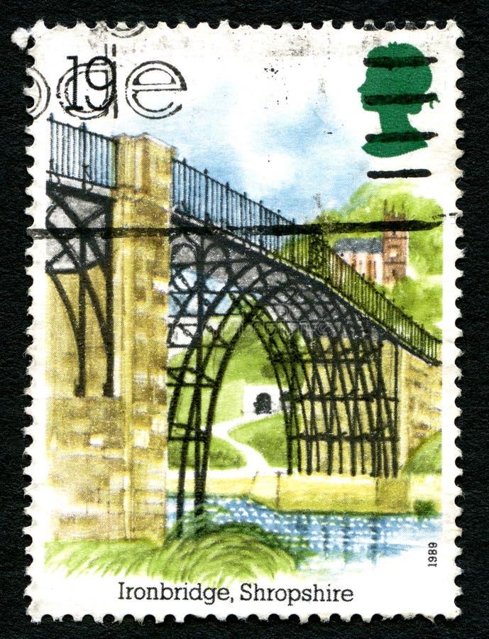 铁桥梁英国邮票 库存图片