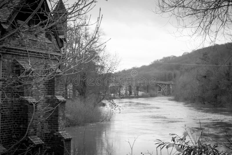 铁桥梁,萨罗普郡,英国英国 免版税图库摄影