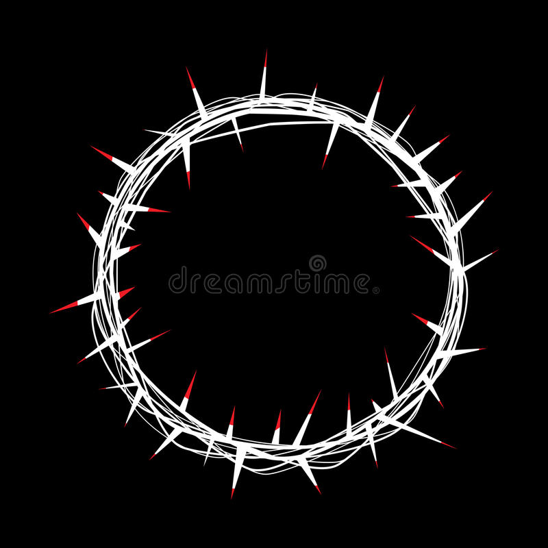 铁海棠有基督例证红色血液的  皇族释放例证