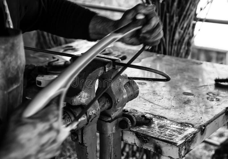 铁的锯 免版税库存照片