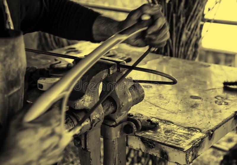 铁的锯 库存照片