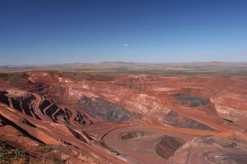 铁矿山坑皮尔巴拉地区西澳州 库存图片