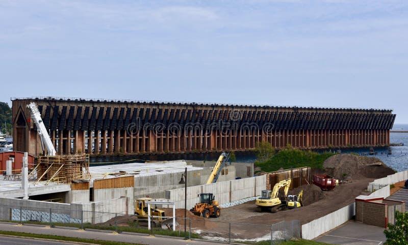 铁矿船坞 免版税库存图片