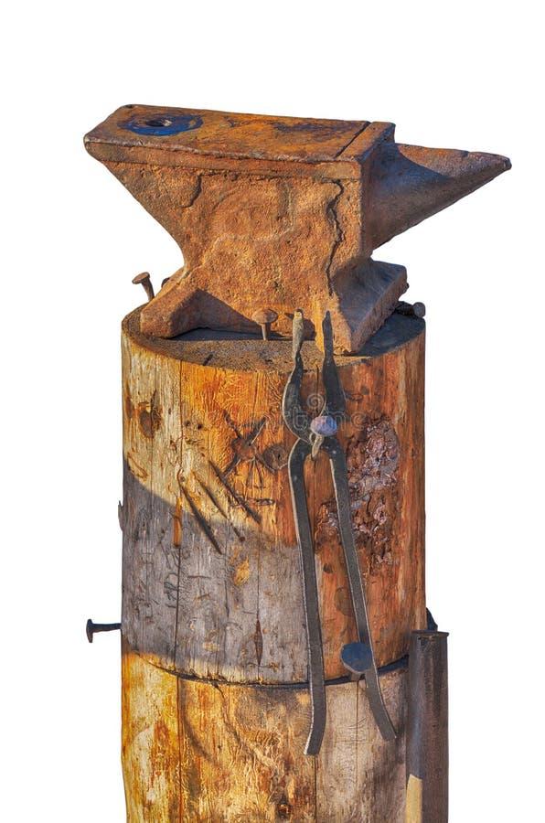 铁砧是铁匠的工具 免版税库存照片