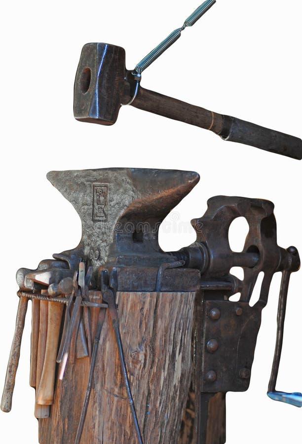 铁砧铁匠工艺 免版税库存照片