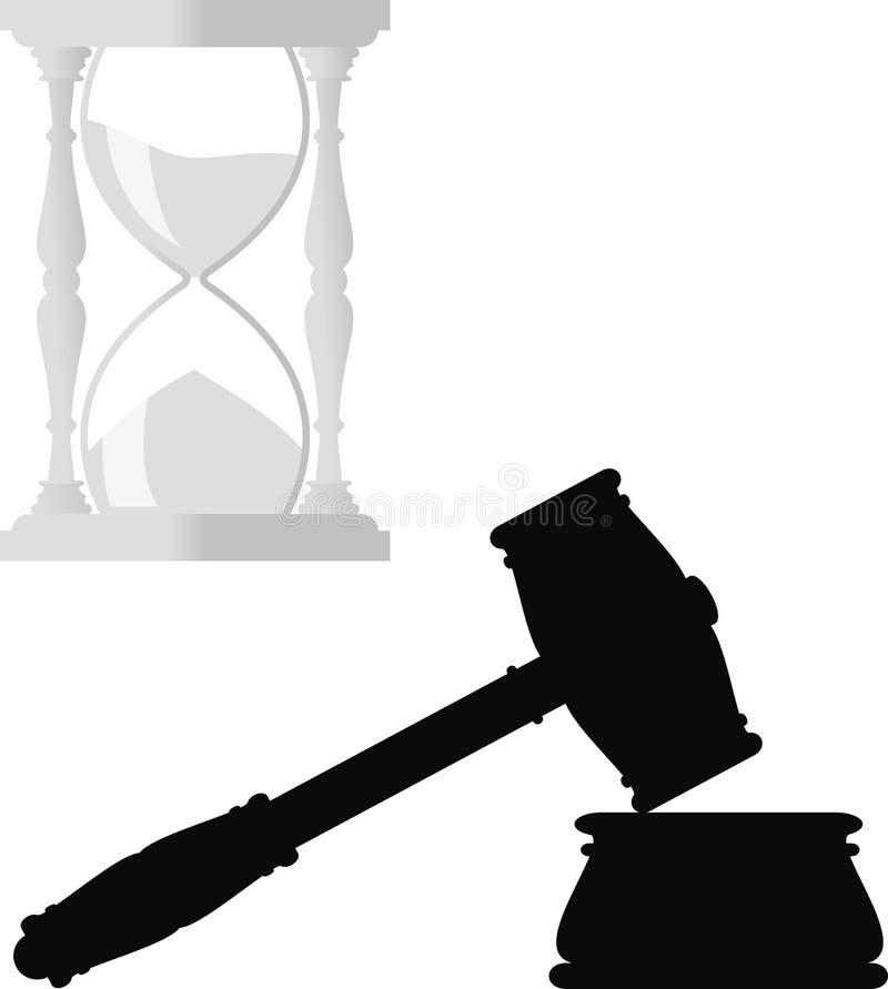 铁砧锤子滴漏法律符号 皇族释放例证