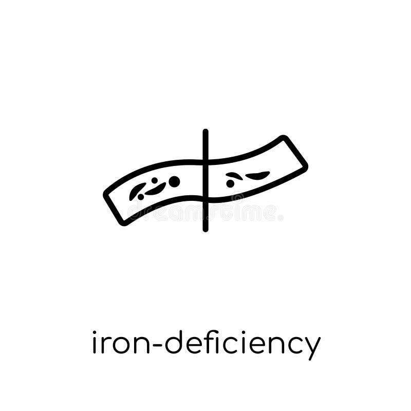 铁缺乏贫血症象  向量例证