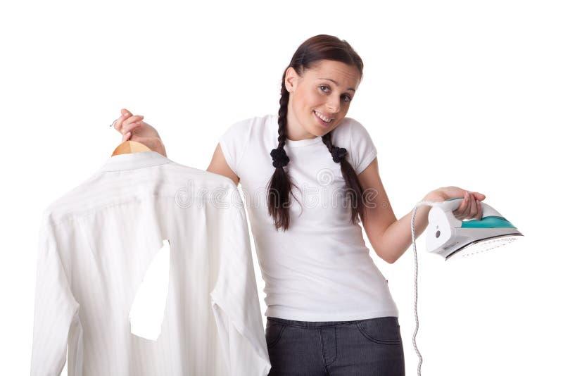 铁衬衣妇女年轻人 免版税库存照片