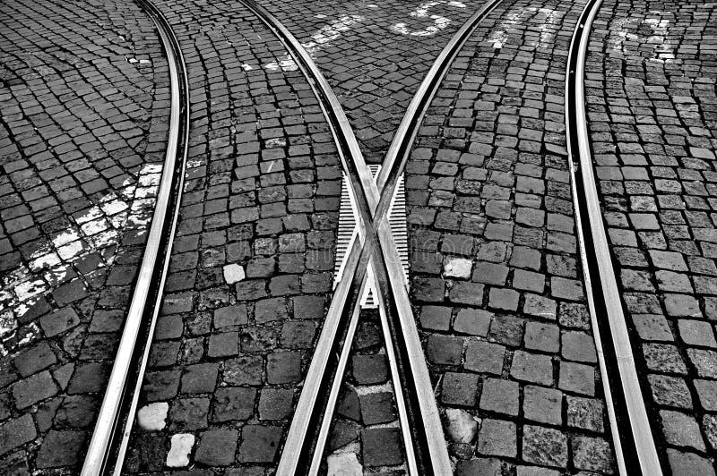 铁路交叉路 免版税库存图片