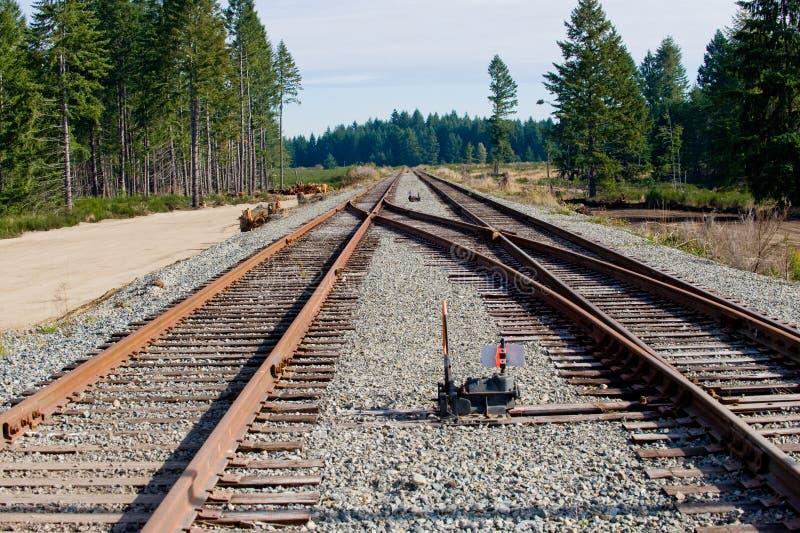 铁路切换跟踪 免版税库存照片