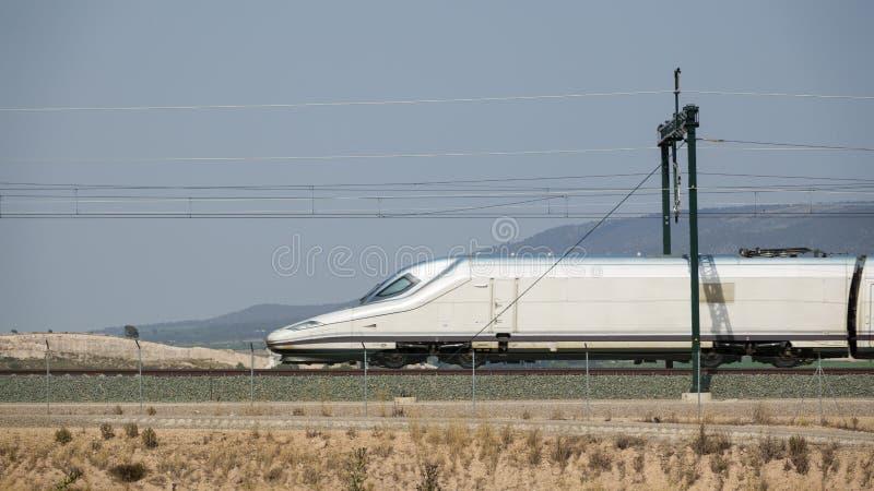 铁路和高速火车 免版税图库摄影