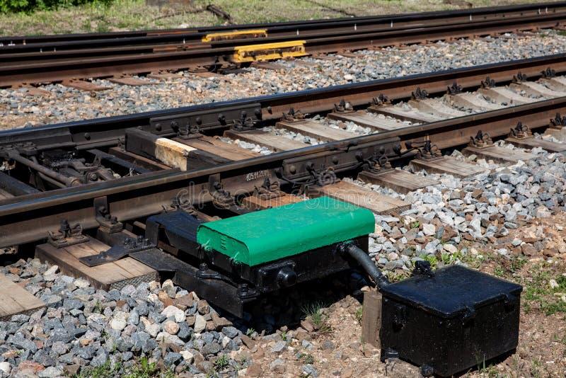 铁路在Jurmala 图库摄影