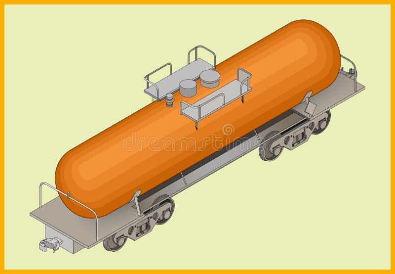 铁路坦克燃料运输 皇族释放例证