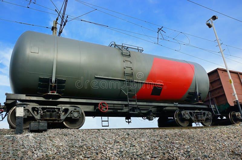 铁路坦克 免版税库存照片