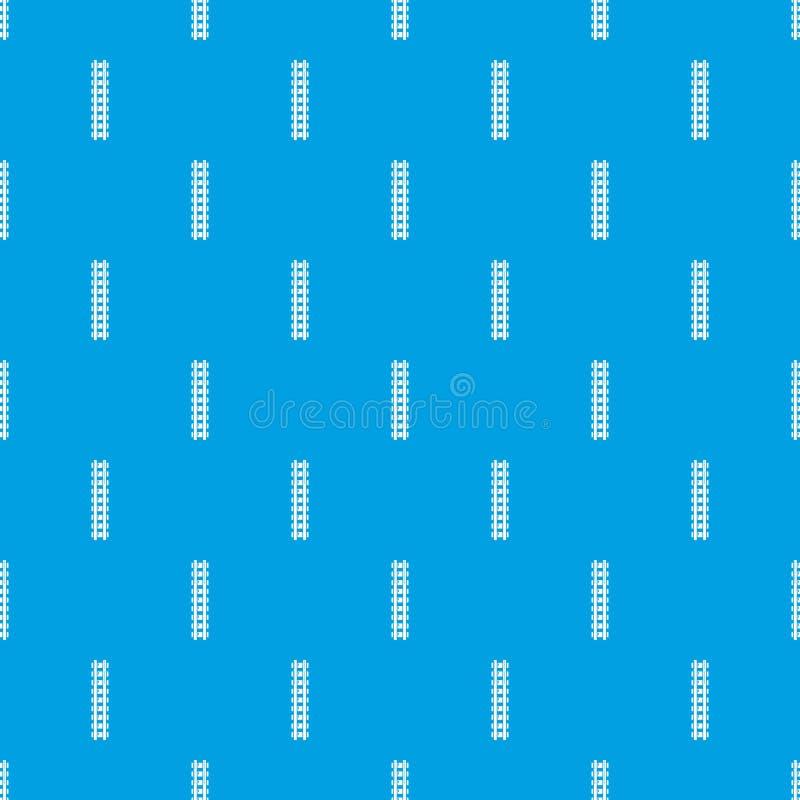 铁路样式无缝的蓝色 向量例证