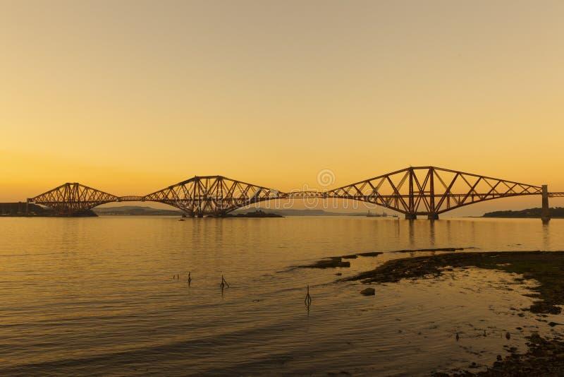 铁路桥。 免版税库存图片