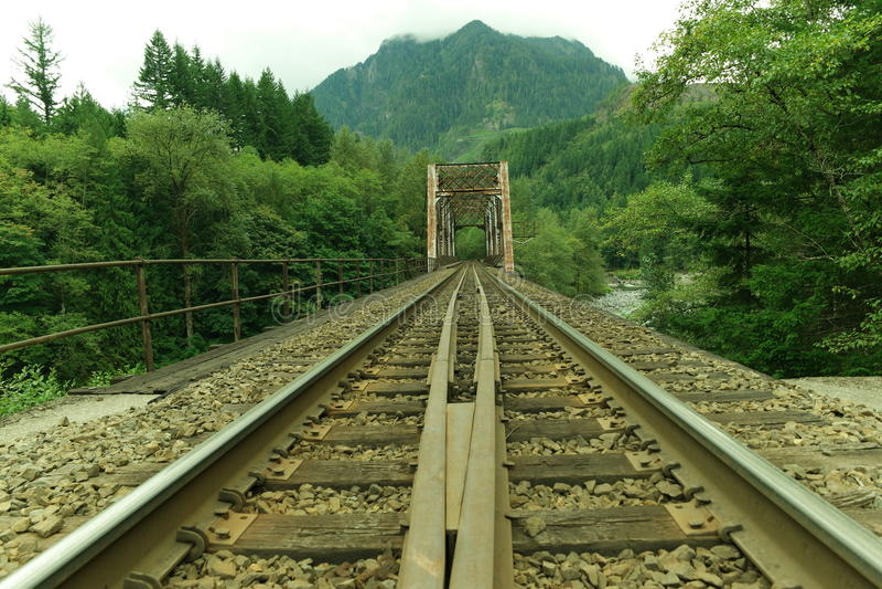 铁路桥梁和轨道 图库摄影